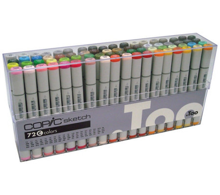 Set of 72 Copic Sketch Markers - Set C