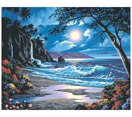 Paint-by-Number Kit - Moonlit Paradise