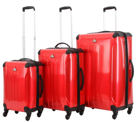 Triforce Luggage 3-Piece Luggage Set - Apex Pinstripe