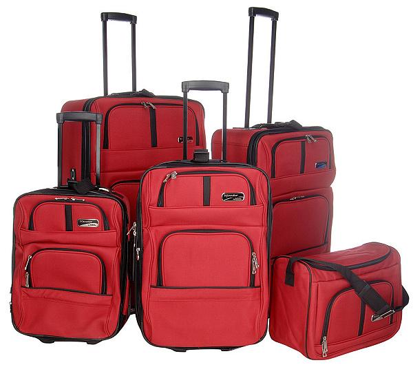 Traveler by Totes 1200 Denier 5-pc.Expandable Luggage Set — QVC.com