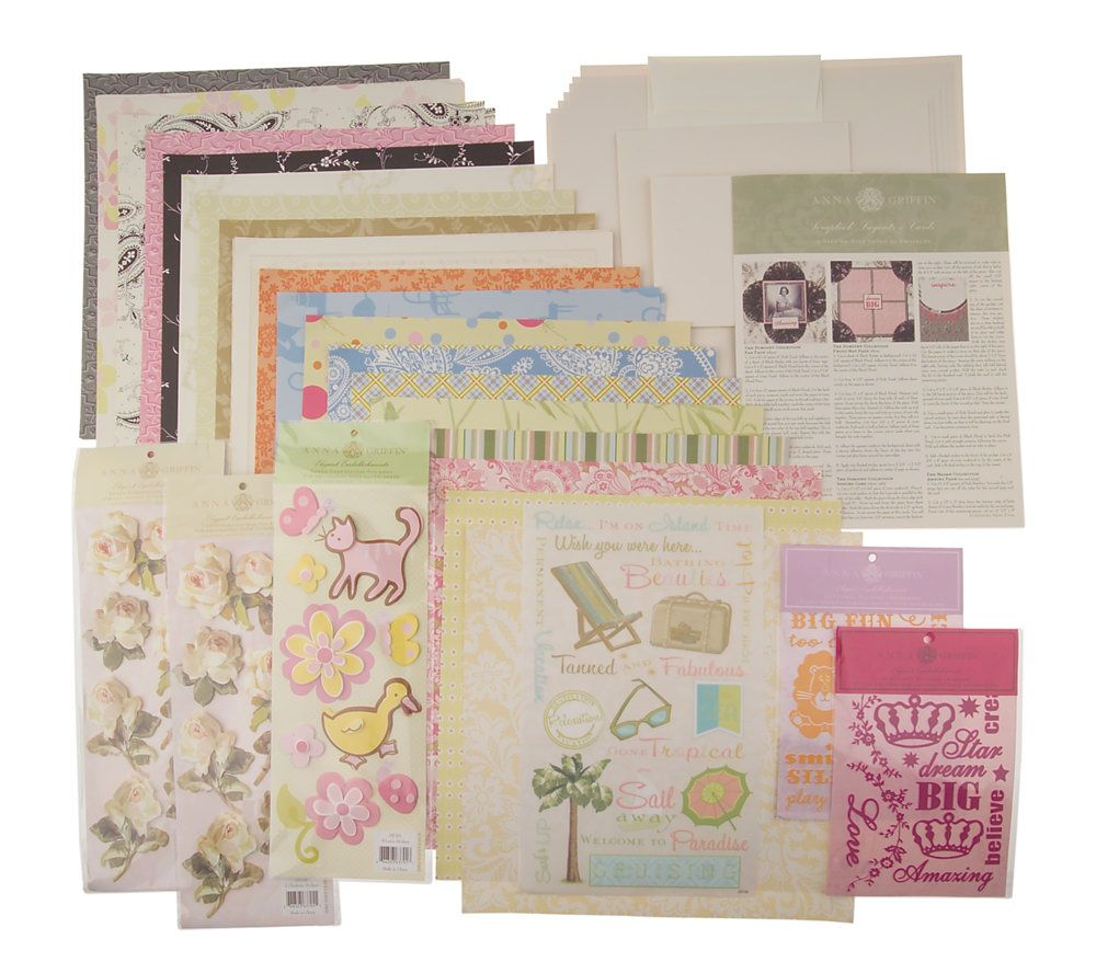 Good Qvc Card Making Ideas Part - 8: Anna Griffin Scrapbook Layouts And Cardmaking Kit - Page 1 U2014 QVC.com