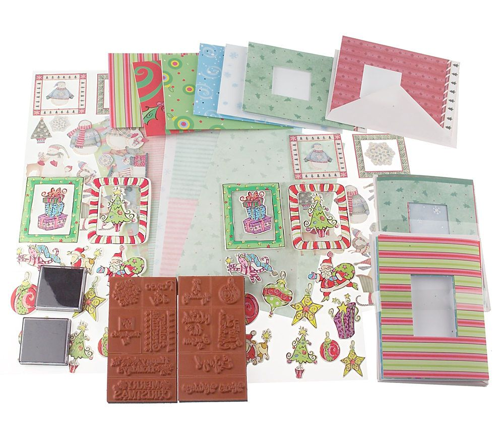 Attractive Qvc Card Making Ideas Part - 7: Holiday Card Card Making U0026 Paper Crafting Kit Makes 16 U2014 QVC.com