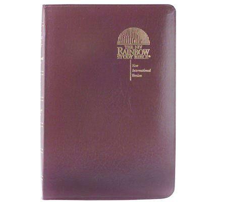 burgundy bible rainbow study thumb index