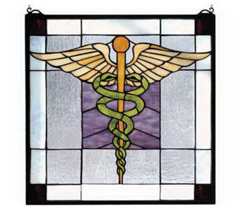 Tiffany Style The Doctor Is In Window Panel - H131400