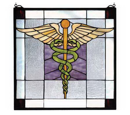 Tiffany Style The Doctor Is In Window Panel