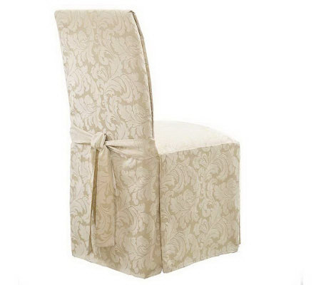 Sure Fit Set of 2 Scroll Dining Room Chair Slipcovers