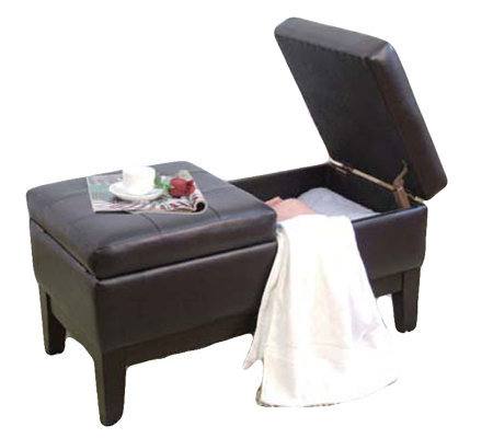 Espresso Simulated Leather Storage Bench by Acme Furniture