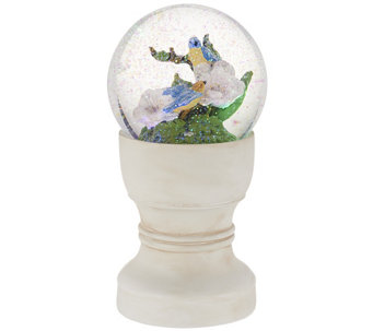 Bethlehem Lights Battery Op. Glass Glitter Globe - H202500