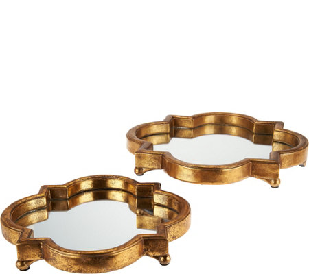 "10"" and 12"" Decorative Mirror Trays"