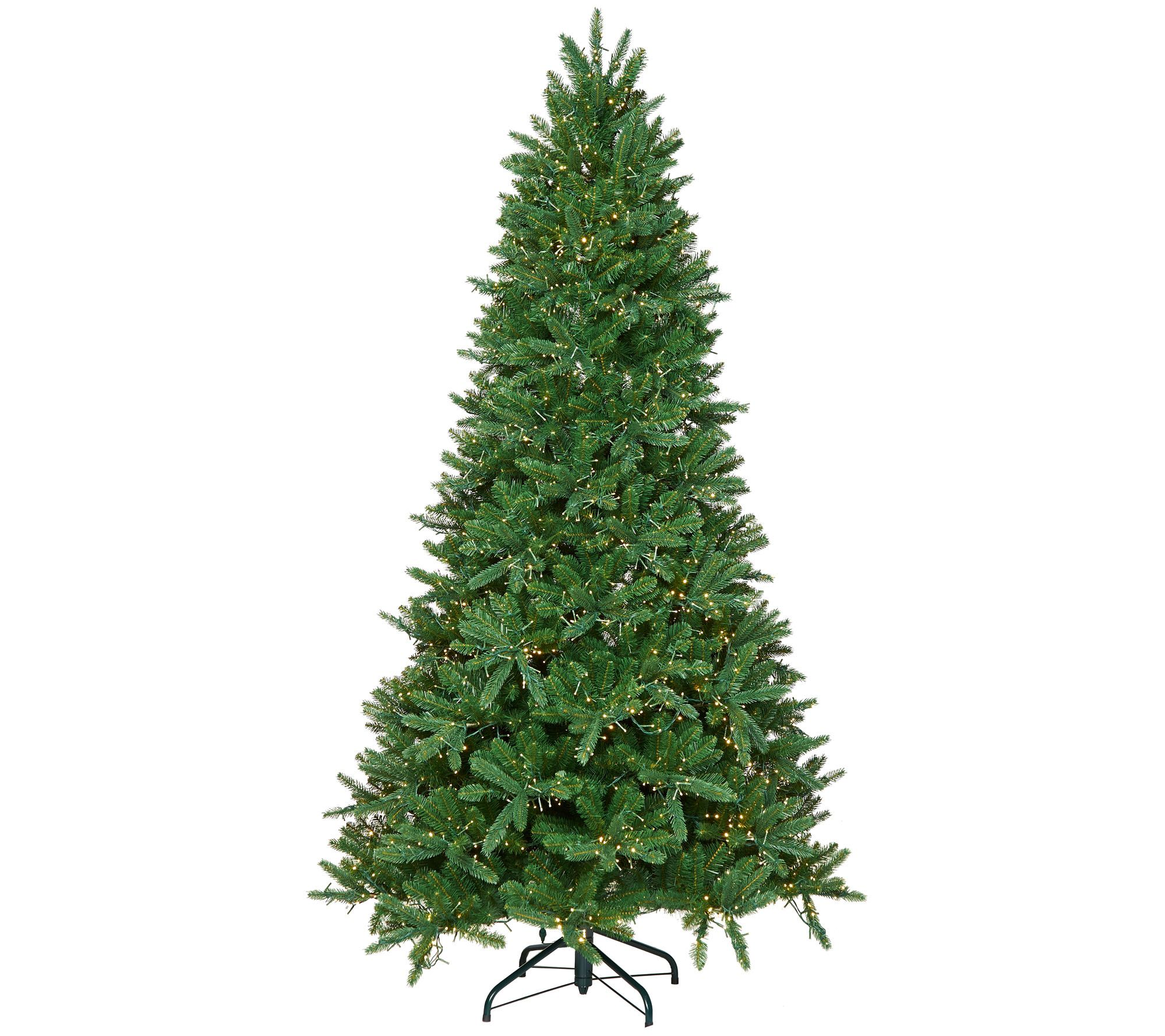 Santa's Best 9' Starry Light Microlight Christmas Tree w/Flip LEDs ...