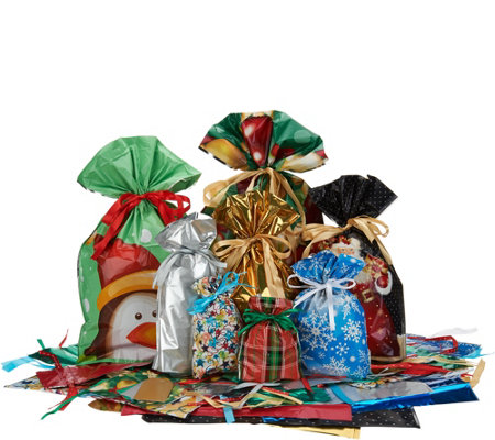 Kringle Express 72pc Gift Bag Set w/Customer Request Larger Bags and Tags