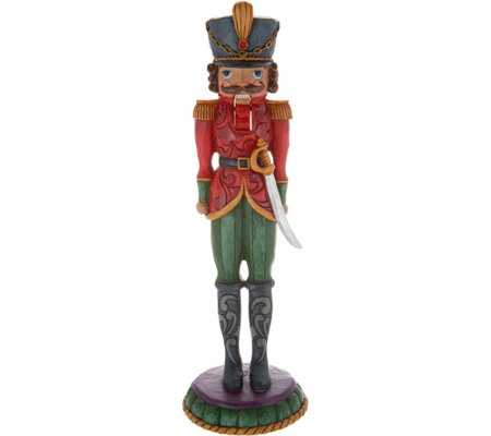 "Jim Shore Heartwood Creek 10"" Toy Soldier Nutcracker"
