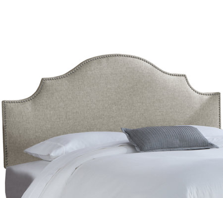 Queen Nail Button Notched Headboard in Groupie by Skyline