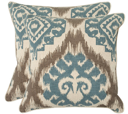 "Safavieh Set of 2 22"" x 22"" Amiri Pillows"