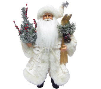 "15-1/2"" Winter White Santa by Santa's Workshop - H289000"