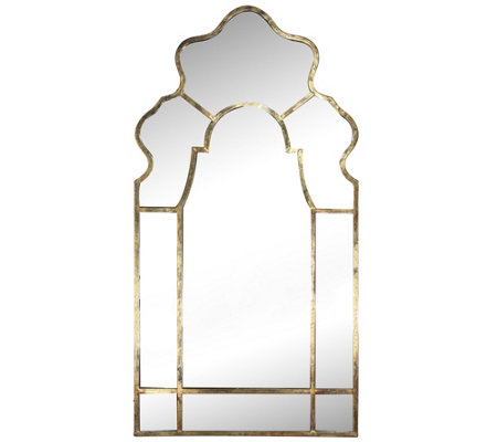 "54-1/2"" Timeless Garden Mirror with Goldtone Frame by Valerie"