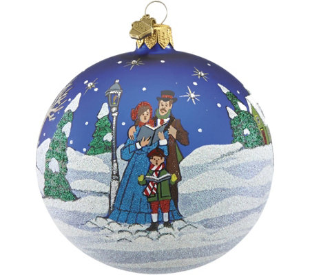 Reed & Barton Classic Christmas Carolers Ball Ornament
