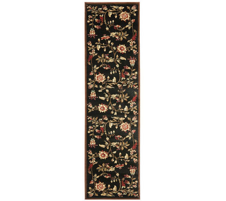 "Lyndhurst Floral Swirl Power Loomed 2'3"" x 8' Runner"