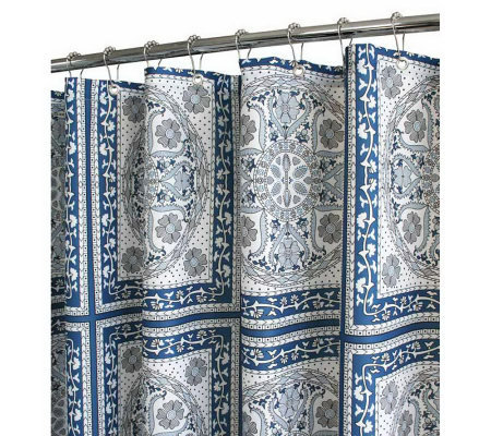 Watershed 2-in-1 Medallion Tiles 72x72 Shower Curtain