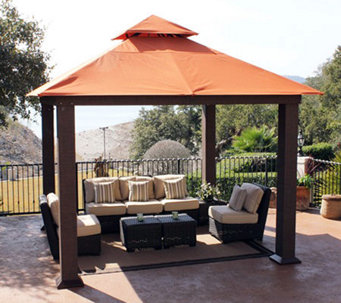 STC Seville Deluxe Vented Gazebo with UV Sunbrella Canopy - H361600