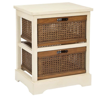 Safavieh Jackson 2-Drawer Storage Unit - Whitew/Cane Drawers