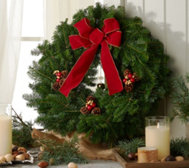 Fresh Balsam Holiday Wreath w/ Jingle Bell by Valerie