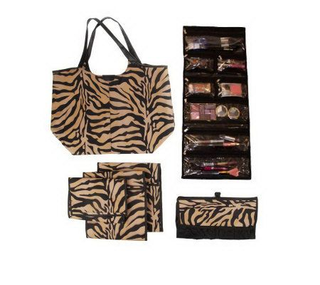 Set of 5 Safari Travel Organizers with Tote by Lori Greiner Page 1