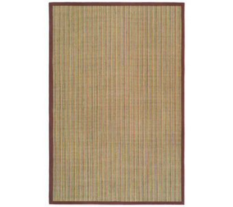 Serenity Stripe Natural Fiber Sisal 3' x 5' Rugwith Border - H176501