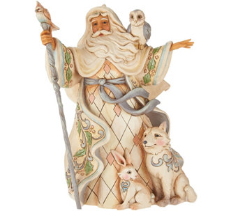 Jim Shore Heartwood Creek Woodland Santa Figurine - H209201