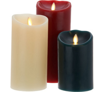 "Luminara Flameless Candle Garden with 5"", 7"" and 9"" Pillars - H210701"