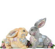 Jim Shore Heartwood Creek Two Sitting Bunnies Figurine