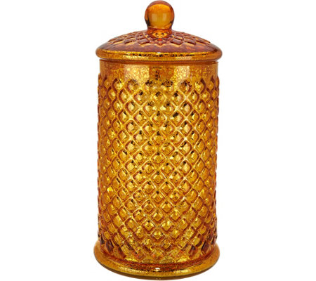 Illuminated Mercury Glass Honeycomb Apothecary Jar by Valerie