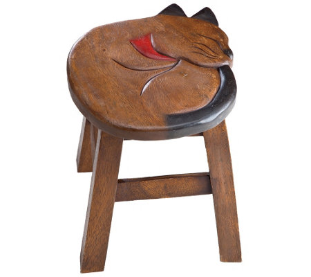 Plow & Hearth Handcarved Footstool
