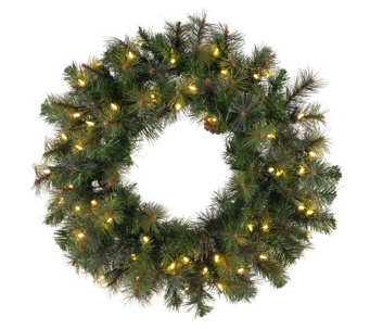 "60"" Prelit Modesto Mixed Pine Wreath by Vickerman - H287701"