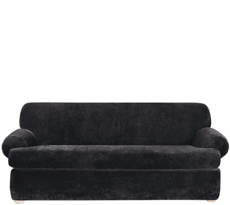 Sure Fit Stretch Plush 2-Piece T-Cushion Sofa Slipcover