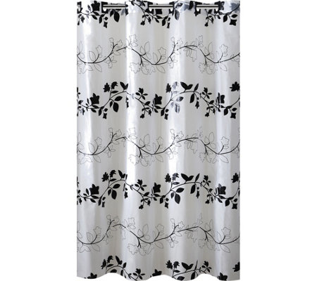 Hookless Printed Shower Curtain - Floral Vine