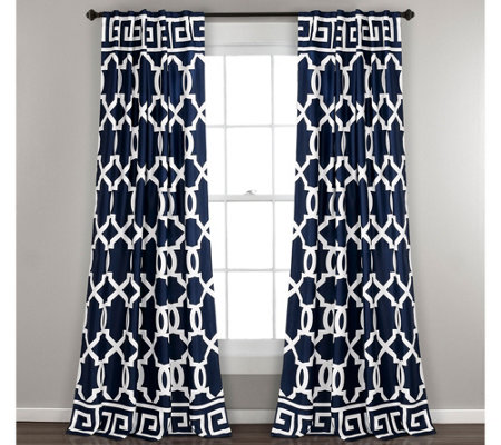 Maze Border Room Darkening Window Curtains by Lush Decor