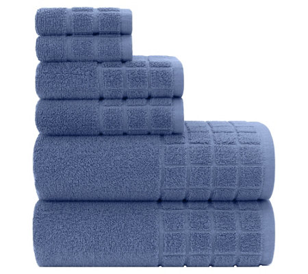 Briarwood Home Dobby Woven Check 6-Piece Bath Towel Set