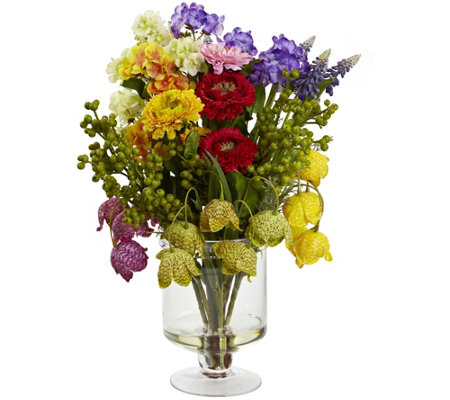 Spring Floral Arrangement by Nearly Natural