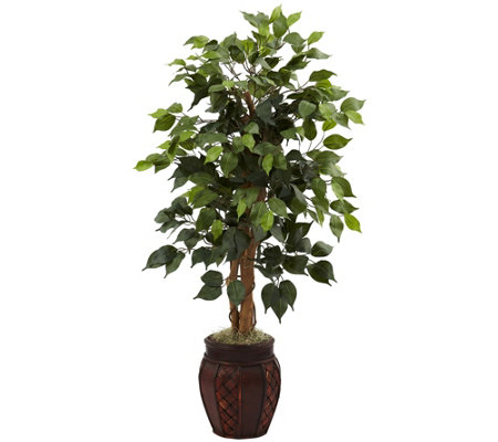 "44"" Ficus Tree with Decorative Planter by Nearly Natural"