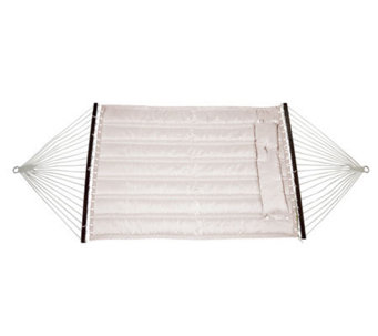 Bliss Hammocks Quilted Hammock with DetachablePillow - Sand - H363601