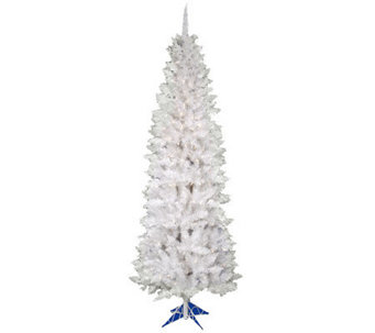 5' White Sparkle Pencil Pinew/ Dura-Lit Lightsby Vickerman - H363801