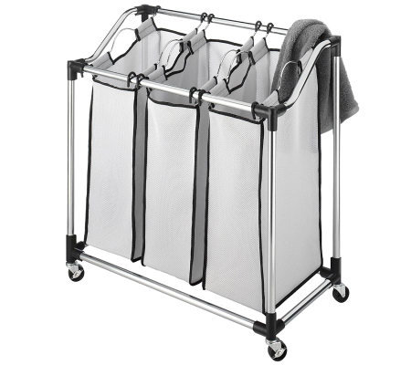 Whitmor Laundry Sorter Mesh Bag - Chrome