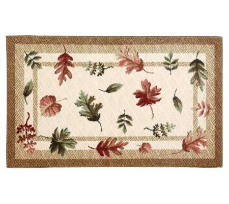 "Artworks Leaf Scatter Accent Rug 30"" x 50"" fromBrumlow"