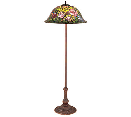 Tiffany Style Rosebush Floor Lamp