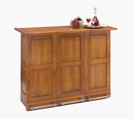Home Styles Portable Bar Oak Finish