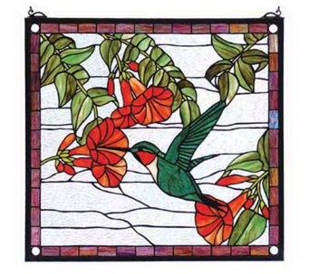Tiffany Style Sweet Hummingbird Window Panel - H131402