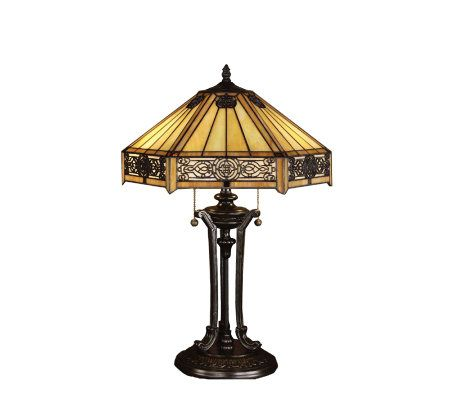 Tiffany Style Indus Table Lamp - Page 1 — QVC.com