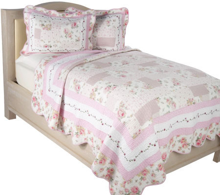 Summerhill 100% Cotton King Size Quilt Set