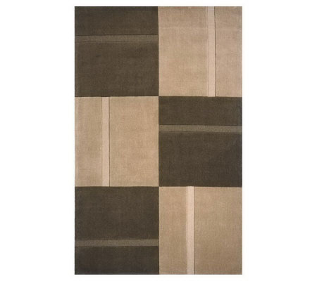 "Momeni Metro Striped Blocks 3'3"" x 5'3"" Handmade Wool Rug"